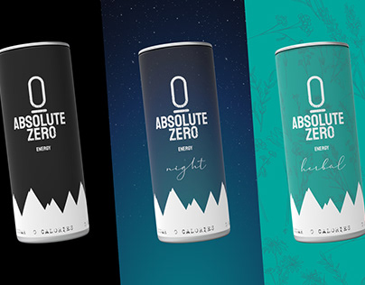 ABSOLUTE ZERO Energy drink design (concept)