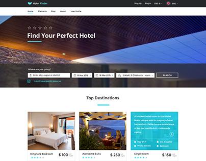 Hotel Finder - Online Booking HTML Website Template