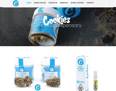 Cookies Cannabis Dispensary Landing Website Template