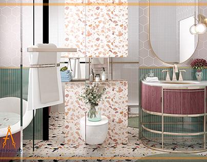 Girl beed room with privet bathroom