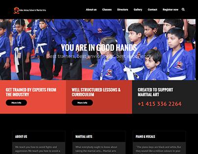 Web Design and Development for Martial Arts School