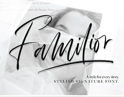 FREE   Familior Stylish Signature Font
