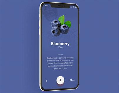 Fruit app promo , Iphone 11 pro
