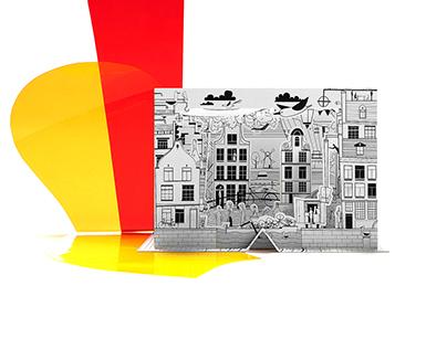 Amsterdam 3D Color City