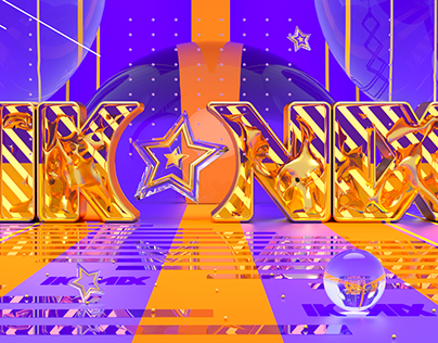 IKONIX Colorful Logo in 3D