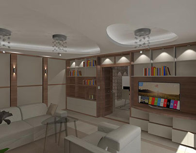 Elegant living room from a garage