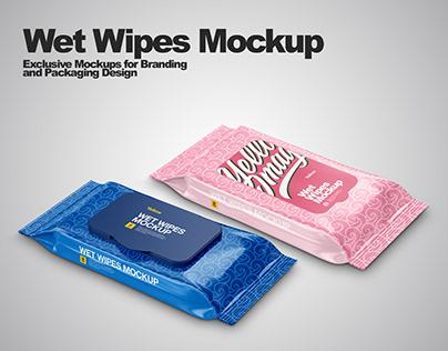 Wet Wipes Mockups PSD