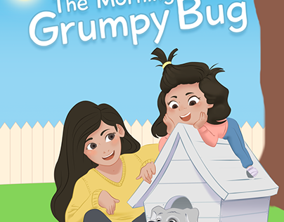 Grumpy Bug Book Cover for children