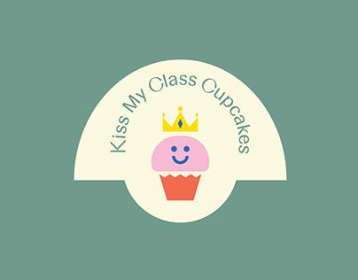 Logo Design-Packaging-Kiss My Class Cupcakes