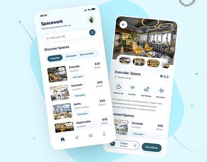 Spacework App UI Design