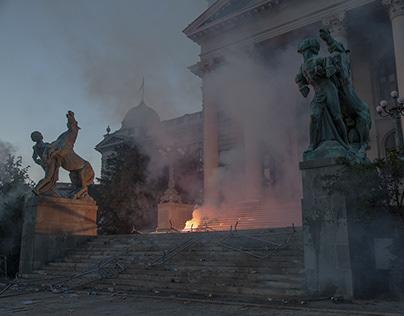 Anti Government protests in Belgrade