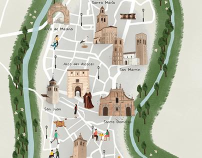 Mapa ilustrado de Arévalo