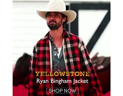 Yellowstone S03 Walker Red Plaid Ryan Bingham Jacket