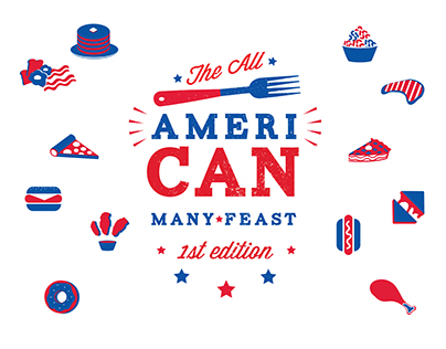 the all american many*feast cookbook
