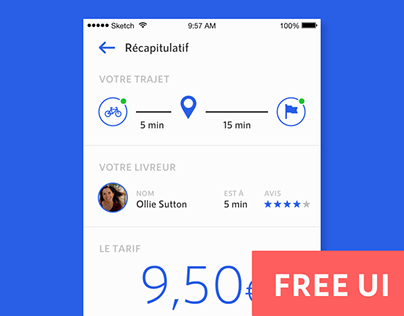 FREE UI .sketch / BeepBeep — Package delivery app
