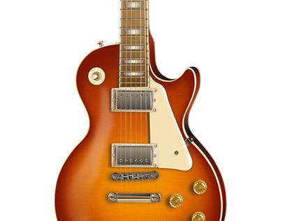 Ilustración realista Gibson Les Paul Traditional