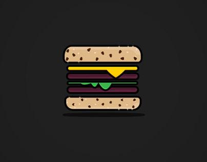 Cartoon Burger