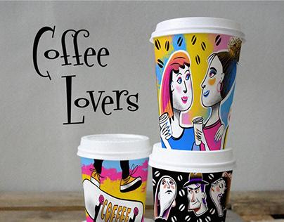 Coffee Lovers - design of coffee cups