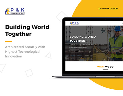 P & K Construction : UI & UX Design
