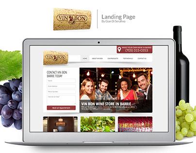 VinBon Wine Store Landing page