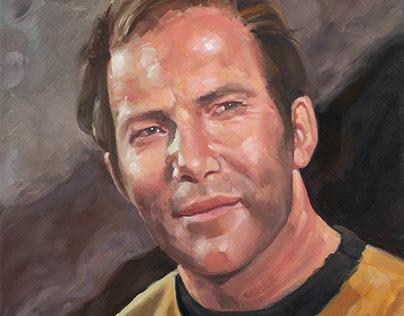 Star Trek - Captain Kirk oil portrait