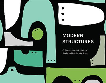 Modern Structure Seamless Patterns By:StatementGoods