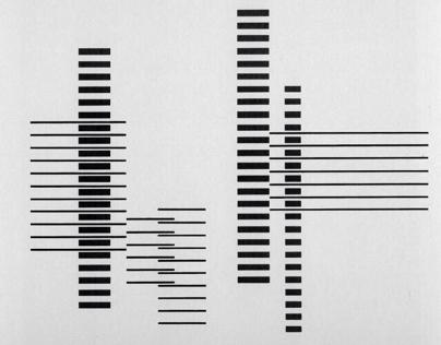 Josef Albers - Rhythm - 1958