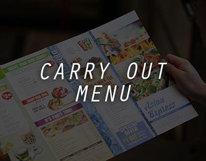 Carry Out Menu Design