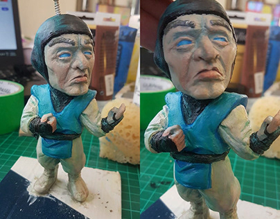 Raiden sculpt and resin casting