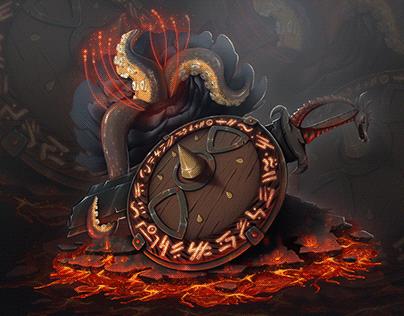 "Illustration ''Demonic shield"""