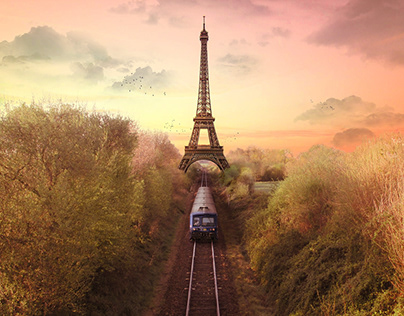 Eiffel Tower Into The Countryside