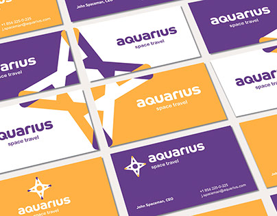 AQUARIUS SPACE TRAVEL Brand identity