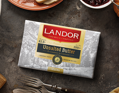 Premium crafted butter packaging design