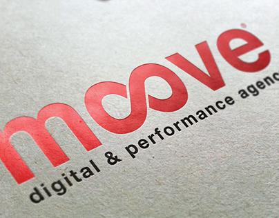 MOOVE digital & performance agency. Logo and identity.