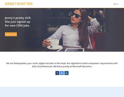 sweetspotter.io: Website and UI design