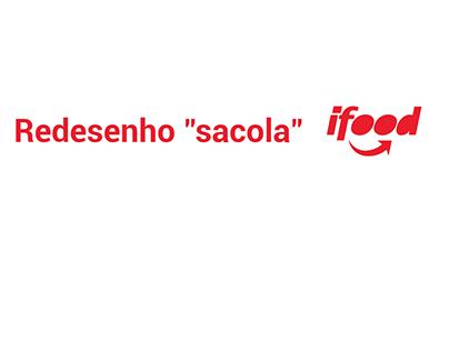 """Redesenho Sacola do """"iFood"""""""