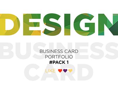 Business card portfolio #Pack 1