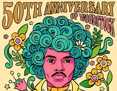 Woodstock Social Illustrations iHeartRadio