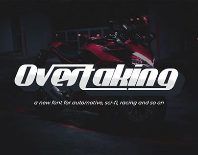Overtaking Futuristic Font
