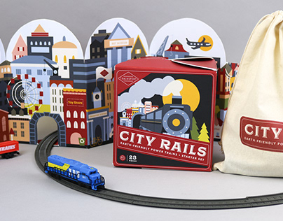 City Rails: Sustainable Train Set Packaging