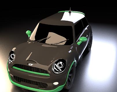 3d modeling mini cooper S