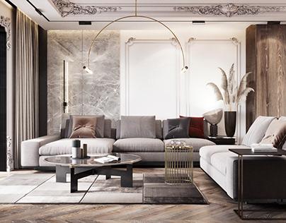 Apartment VICTORIA- Livingroom design