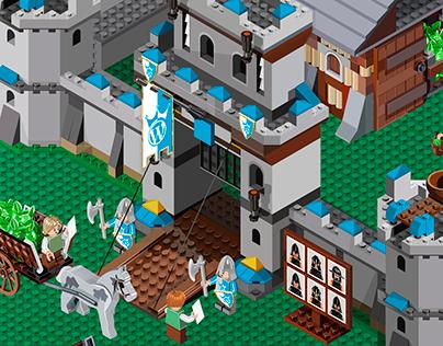 ISOMETRIC LEGO-CASTLE WordPress Infographics