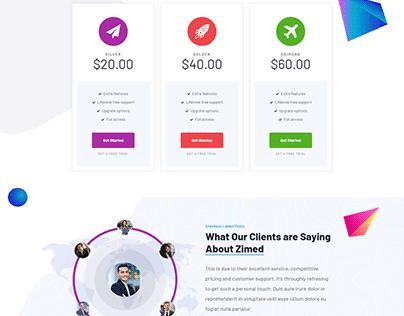 WordPress Landing Page design Sample