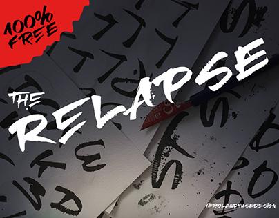 RElapse - a free Folded Pen font