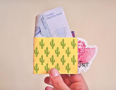 Tyvek-paper wallet template