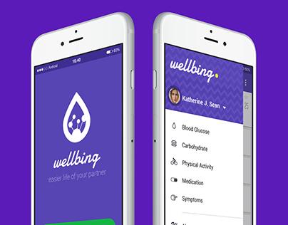 Wellbing app + UX/UI + Material Design