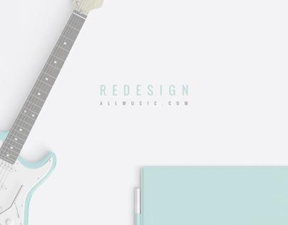 Redesign allmusic.com