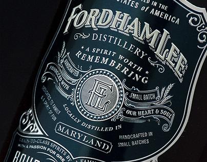 Fordham Lee Distillery Spirits Logo & Packaging