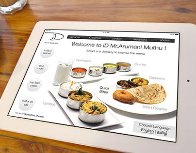 "Interactive Menu Design for Restaurant - ""ID"""